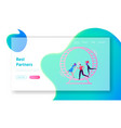 looping life and daily routine work website vector image vector image