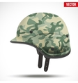 Military modern camouflage helmet Side view vector image vector image