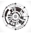 Modern compass rose vector image