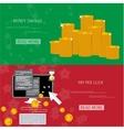 money savings concept vector image vector image