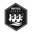 nautical sport vector image vector image