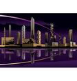 Night cityscape with lights and skyline vector | Price: 3 Credits (USD $3)
