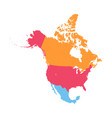 north america map vector image