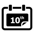 number calendar icon simple style vector image
