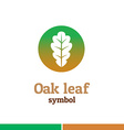 Oak leaf symbol logo Nature theme template vector image vector image