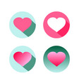 red shape heart icon symbol graphic design flat vector image