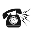 Ringing blue stationary phone vector image