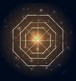 sacred geometry abstract geometric shapes on a vector image vector image