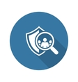 Safety Checking Icon Flat Design vector image vector image