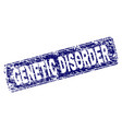 scratched genetic disorder framed rounded vector image vector image