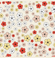seamless background with cherry flowers vector image