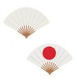 set hand fans decorative fans isolated on vector image vector image