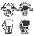 set of boxing club emblems templates isolated vector image vector image