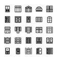 shutters solid icons vector image vector image