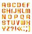 Spectral letters folded of paper ribbon-orange vector image