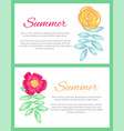 summer set of two posters vector image vector image