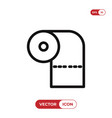 toilet paper icon vector image