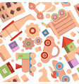 toys pattern vintage wooden attractions for kids vector image vector image