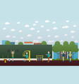 training outdoors concept flat vector image vector image