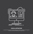 tutorials video media online education icon line vector image