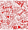 Valentine seamless pattern for your design vector image vector image