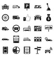 vehicle icons set simple style vector image