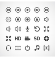 Video interface icon on white vector image vector image