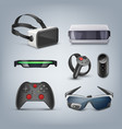 virtual reality gadgets vector image vector image