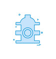 water cylinder icon design vector image