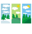 winter spring and summer landscape with trees vector image