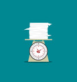 work money time and health on day scale vector image