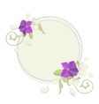 Apple and petunia flowers beautiful fame vector image