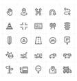 mini icon set - traffic icon vector image