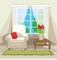 spring room interior scene vector image