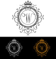 Letter W Luxury Logo template flourishes vector image