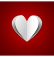 paper heart on red background vector image