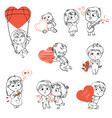 valentines day isolated on white background vector image