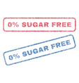0 percent sugar free textile stamps vector image vector image
