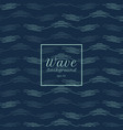 abstract blue water wave line pattern background vector image vector image
