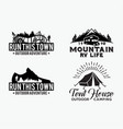 adventure logo badges 8 vector image vector image