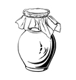 antique jug vector image vector image