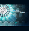background with futuristic elements 3 vector image vector image