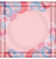 Background with Square Frame vector image