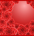 beautiful red rose flower background vector image vector image