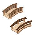 beautiful wooden bridges vector image