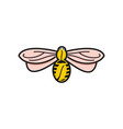 bee flying and coffee bean logo designs vector image vector image