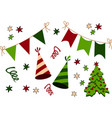birthday christmas and new year party stuff icon vector image