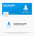 blue business logo template for launch mission vector image
