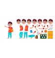 boy schoolboy kid primary school child vector image vector image