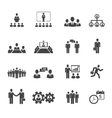 Business people meetings and conferences icons vector image
